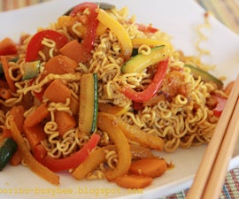 Noodles with Stir-Fry Curry Vegetables