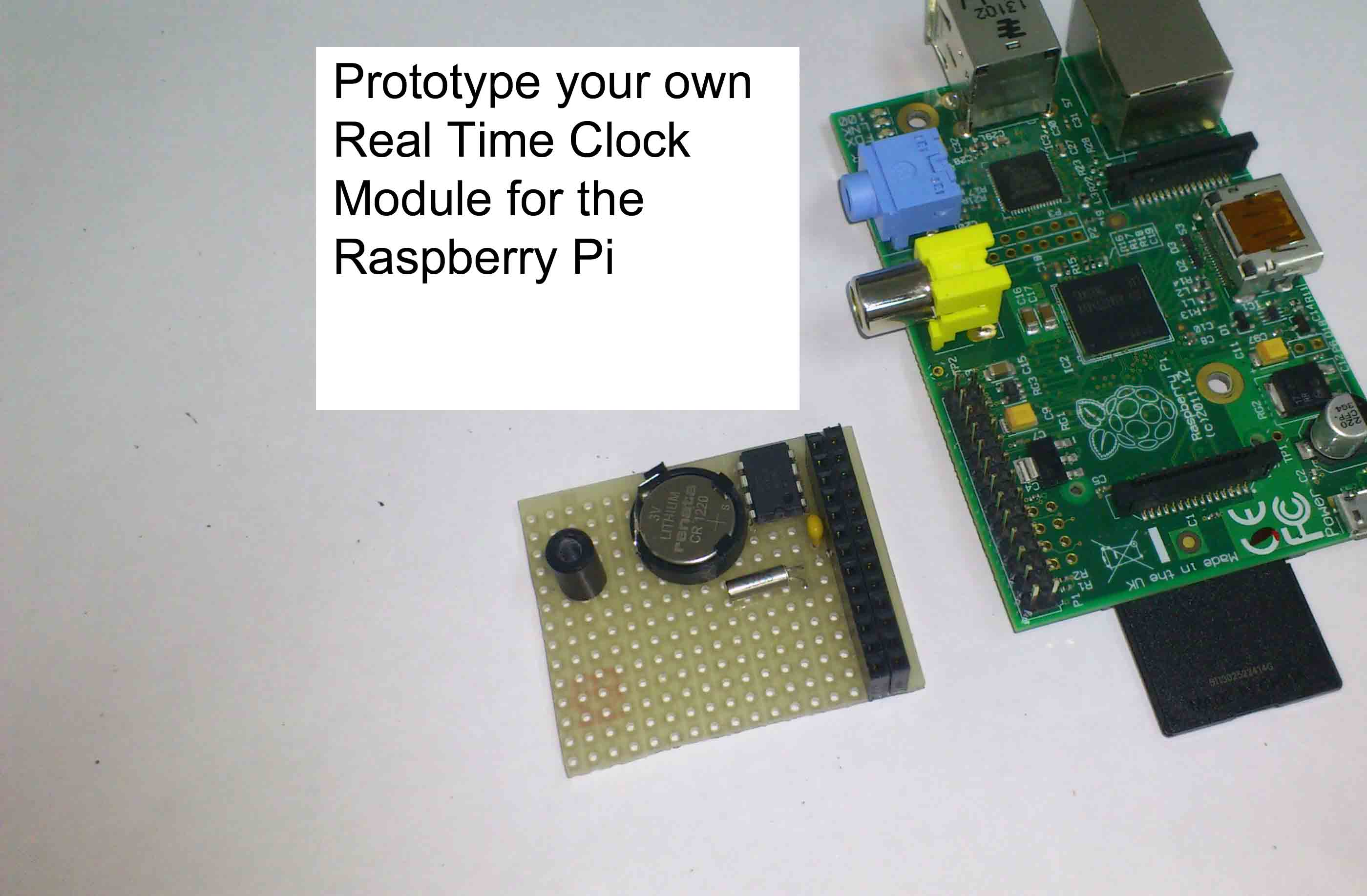 Picture of Prototype and Configure Your Own Real Time Clock Module for the Raspberry Pi  ( Open Source Hardware and Software Configuration) )