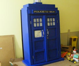 TARDIS bookcase cupboard - Goodhart Maker Den of Unequity Storage Cabinet