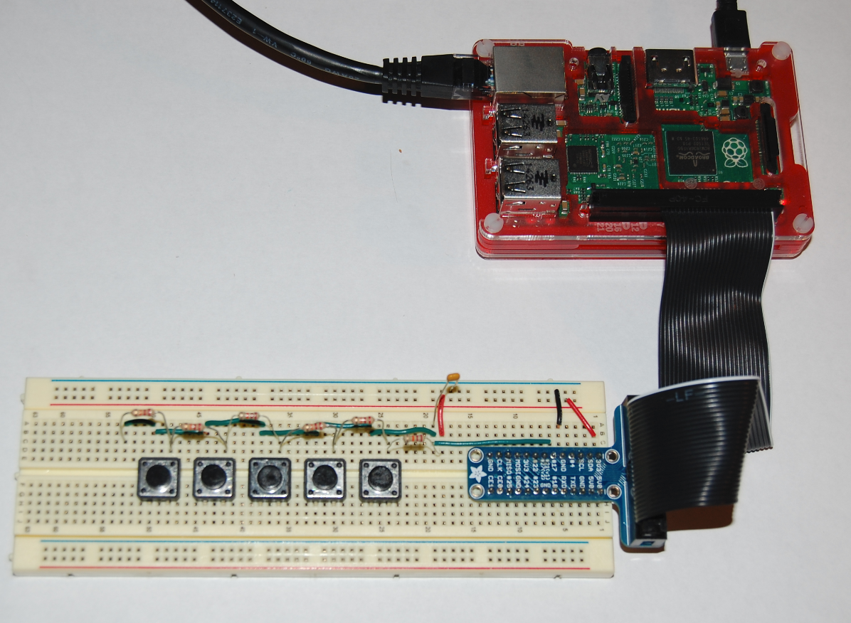 Picture of RaspberryPi: Multiple Buttons on One Digital Pin