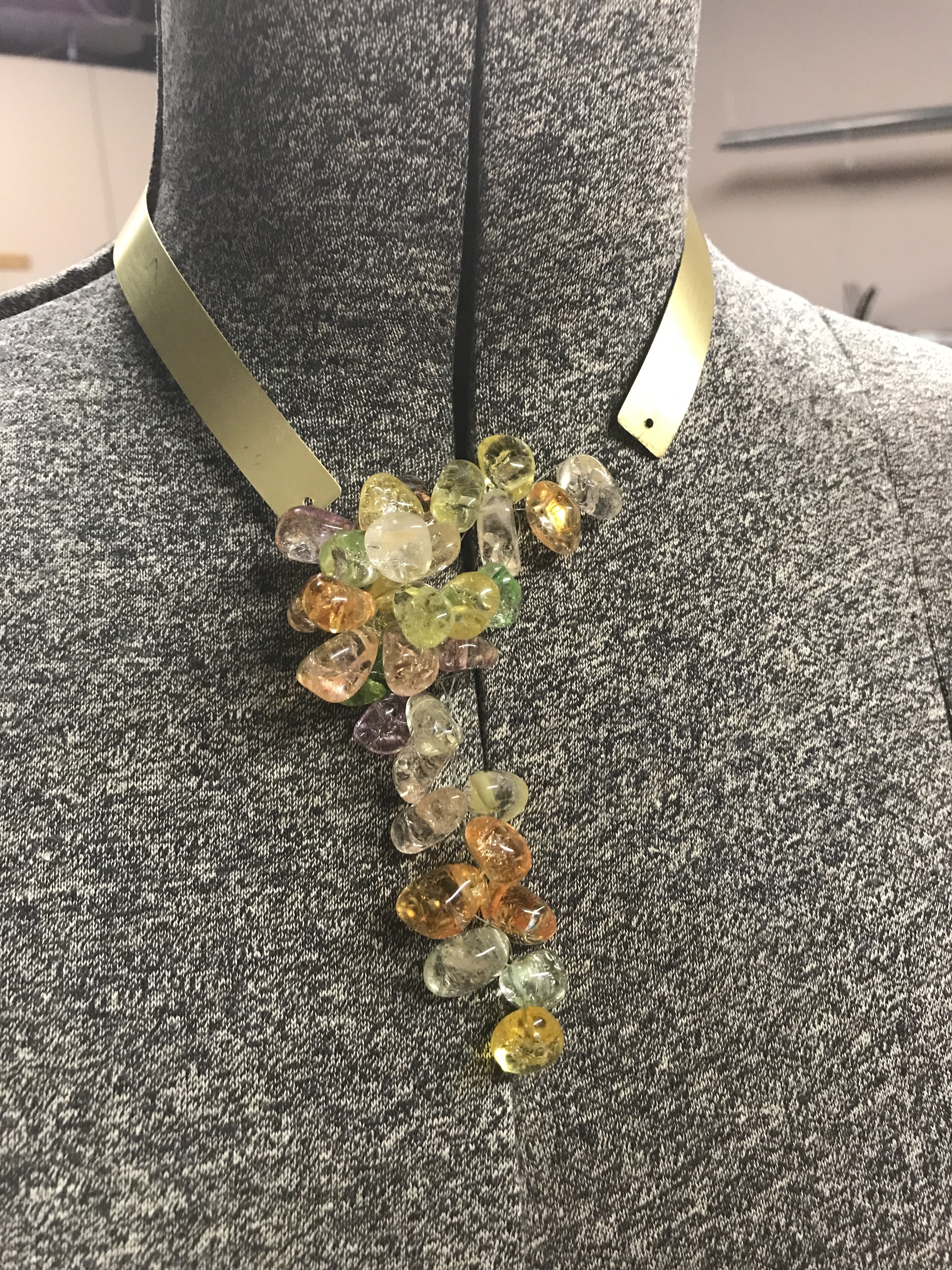 Picture of Avant Garde(ish) Brass Collar Necklace