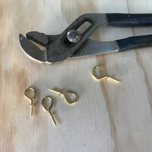 Drill Holes for Hooks to Secure Blinds