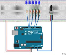 LED Row Fade Arduino