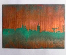 Copper City Skyline Wall Art