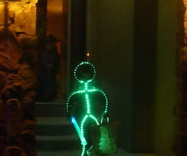 Glowing LED Stickman Costume