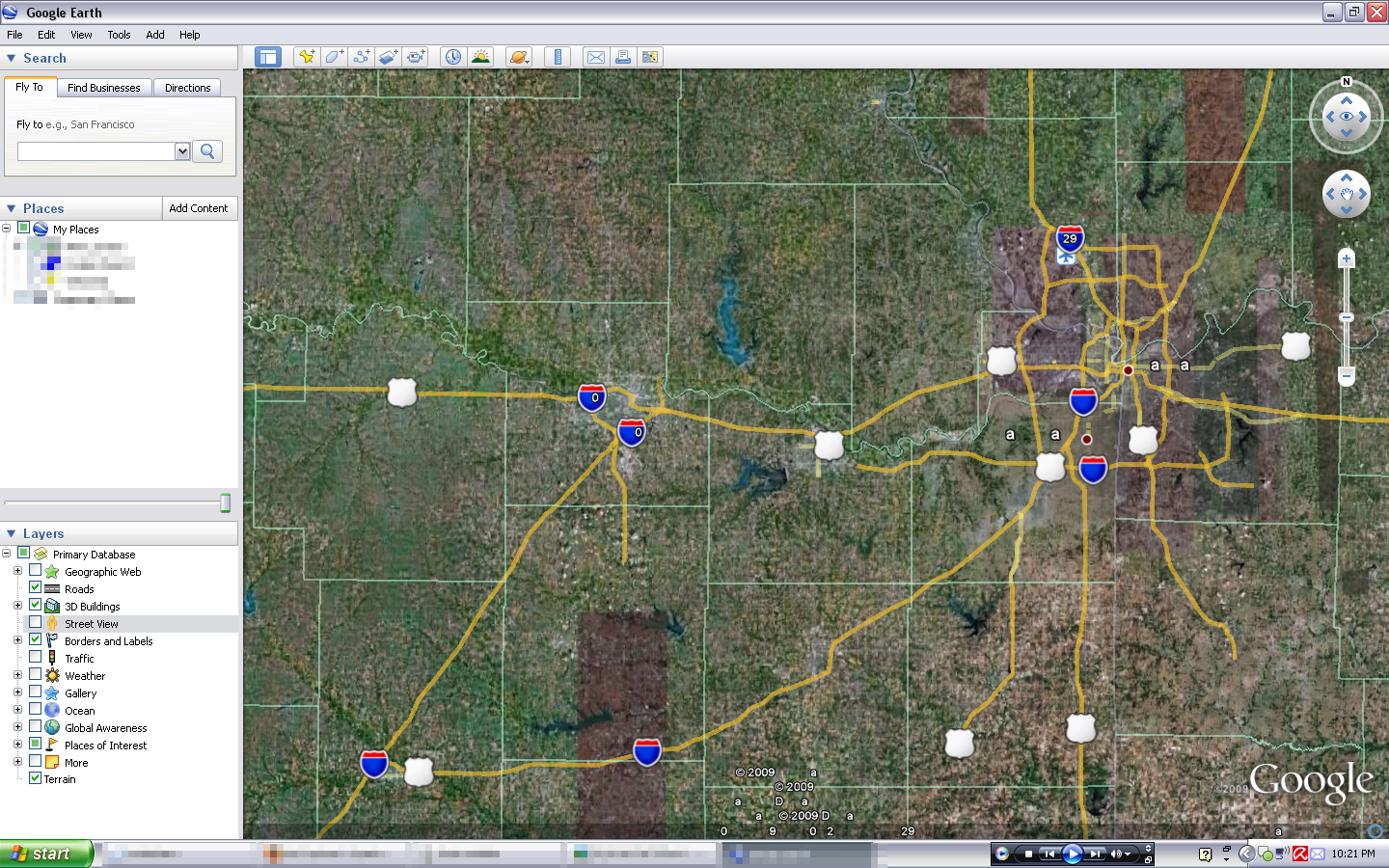 Picture of What happened to the labels and numbers in Google Earth?