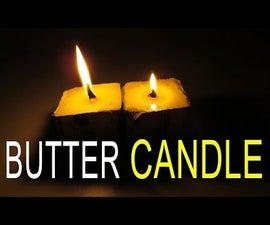How to make Emergency Butter Candle