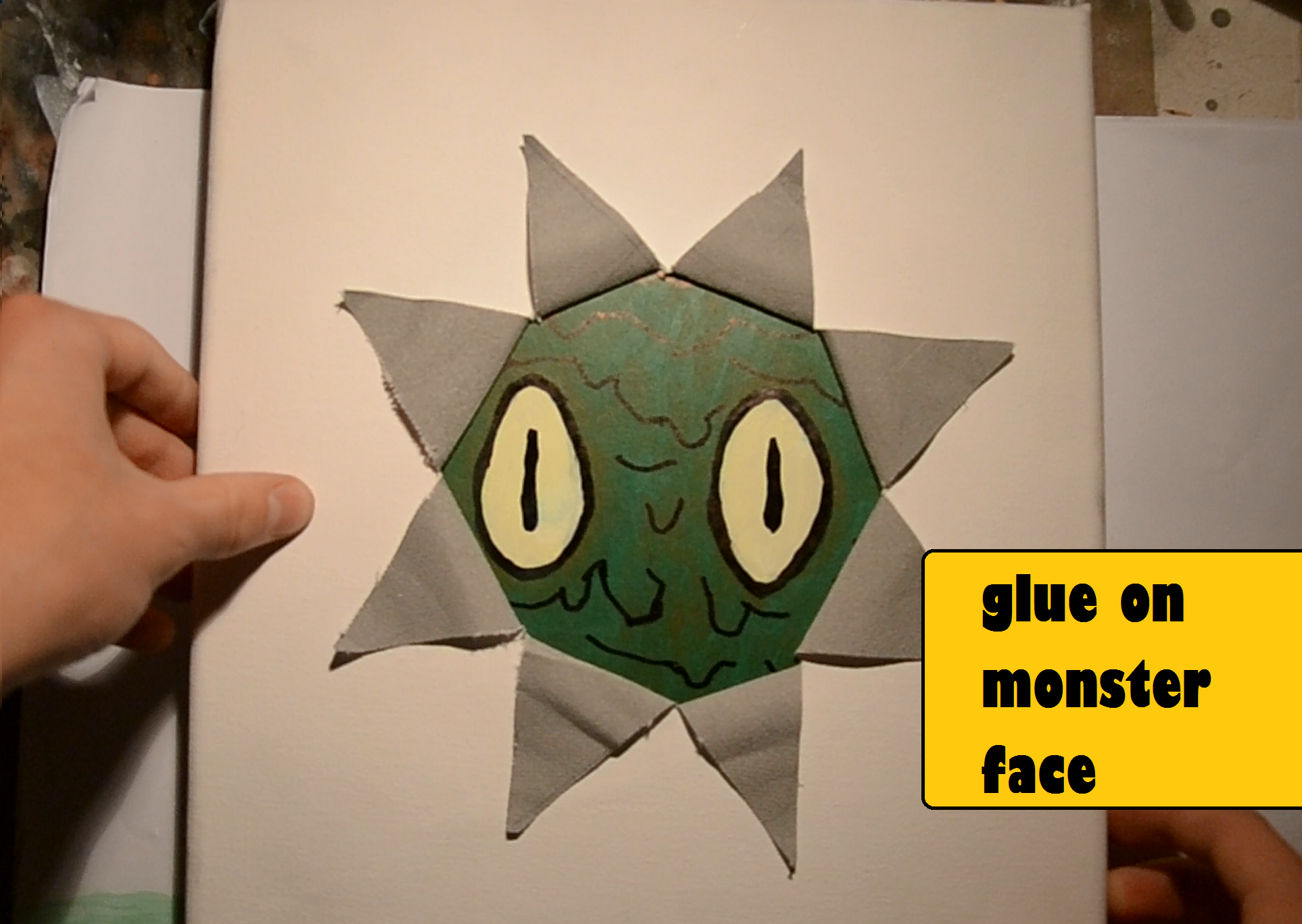 Picture of Glue on Monster Face