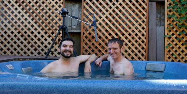 Custom Boom Mic for a Hot Tub Podcast