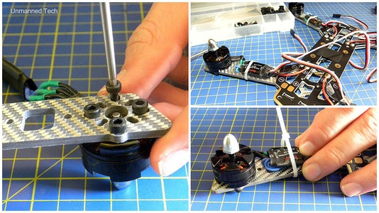 Securing the Motors and ESC to the Quadcopter Frame