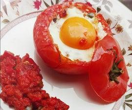 Egg in a Tomato Nest!