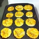 Egg, ham, and cheese breakfast muffins (gluten free or regular)