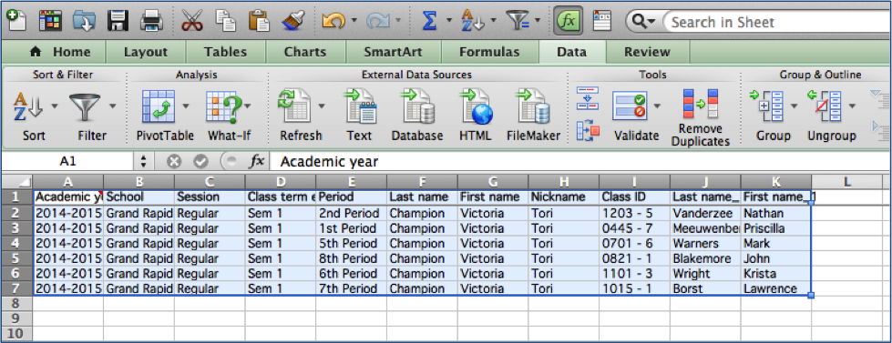 Picture of Back at Your Spreadsheet, You Should Find Your Data With All the Duplicates Removed