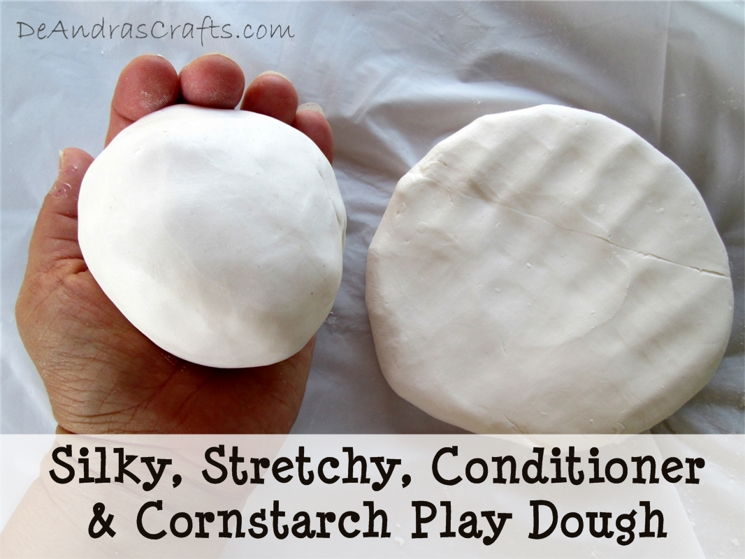 Picture of Silky, Stretchy, Conditioner & Cornstarch Play Dough