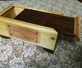 Slide Top Box With Copper Etched Plaque