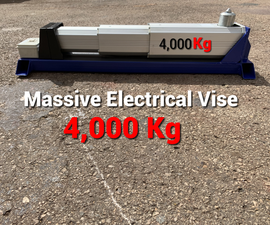 How to Make a Massive Electrical Vise - 4 Tons