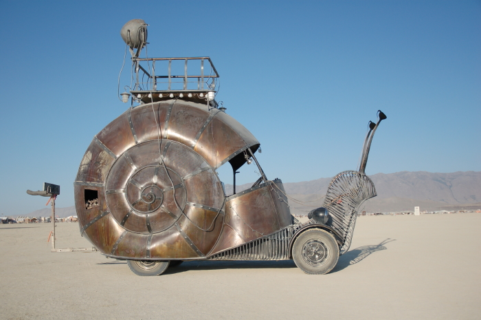Picture of Snail Art Car the Golden Mean