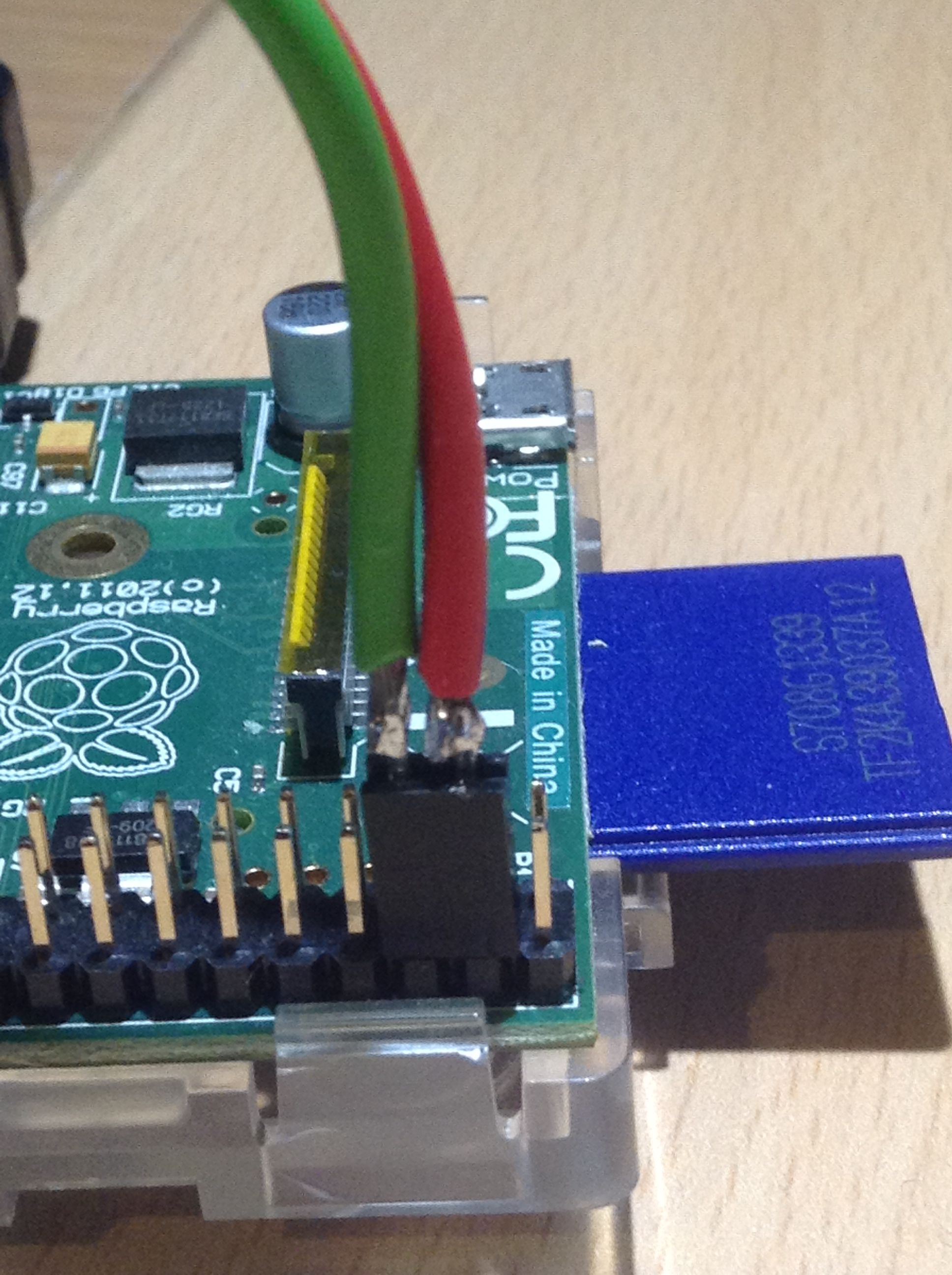 Picture of Connect Power to the Pi