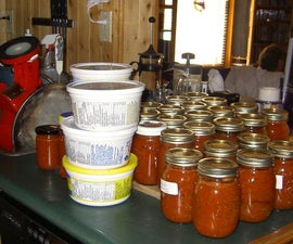 How to preserve a Bushel of Tomatoes in a Day