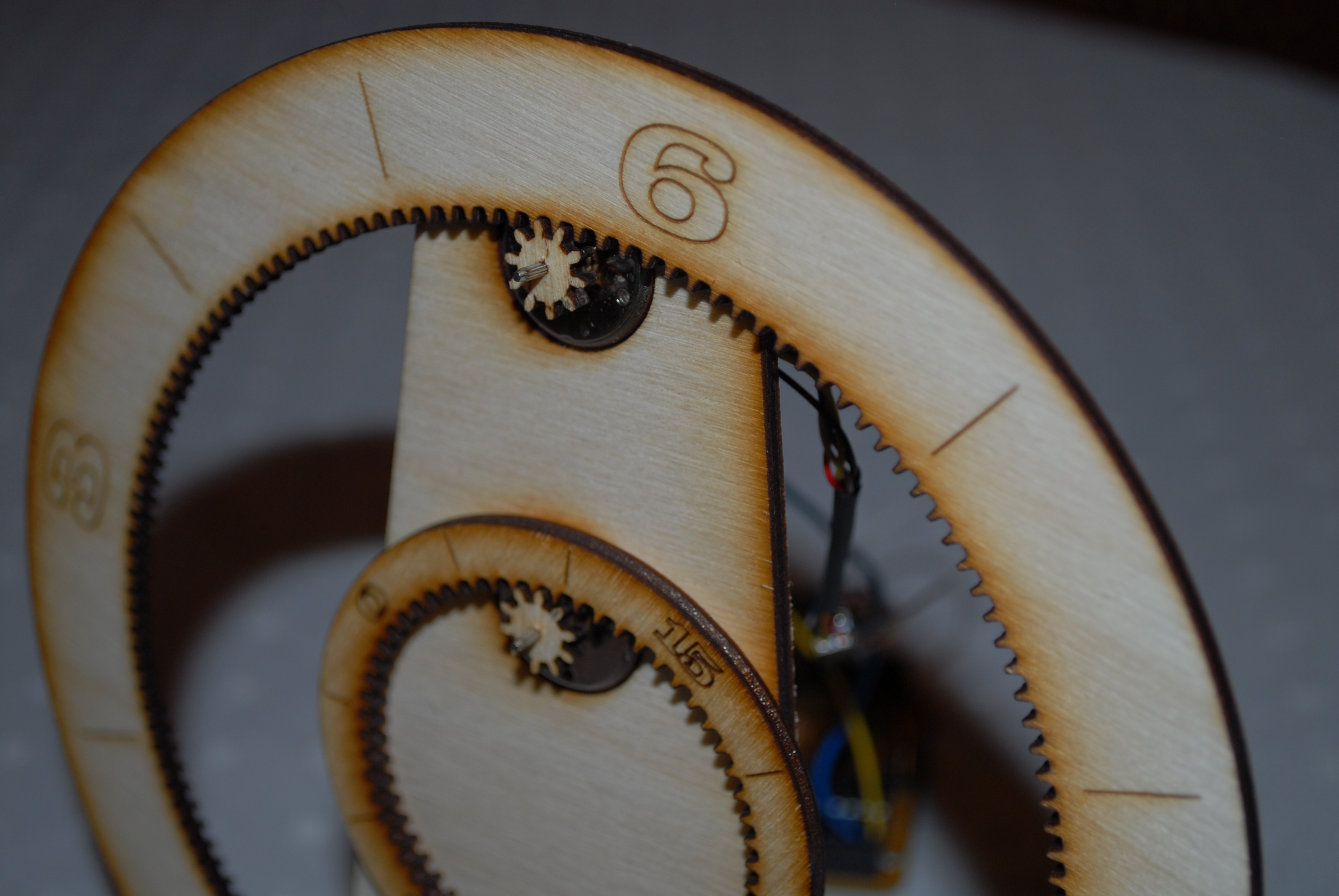 Picture of Laser Cut Gear Clock - With ChronoDot!