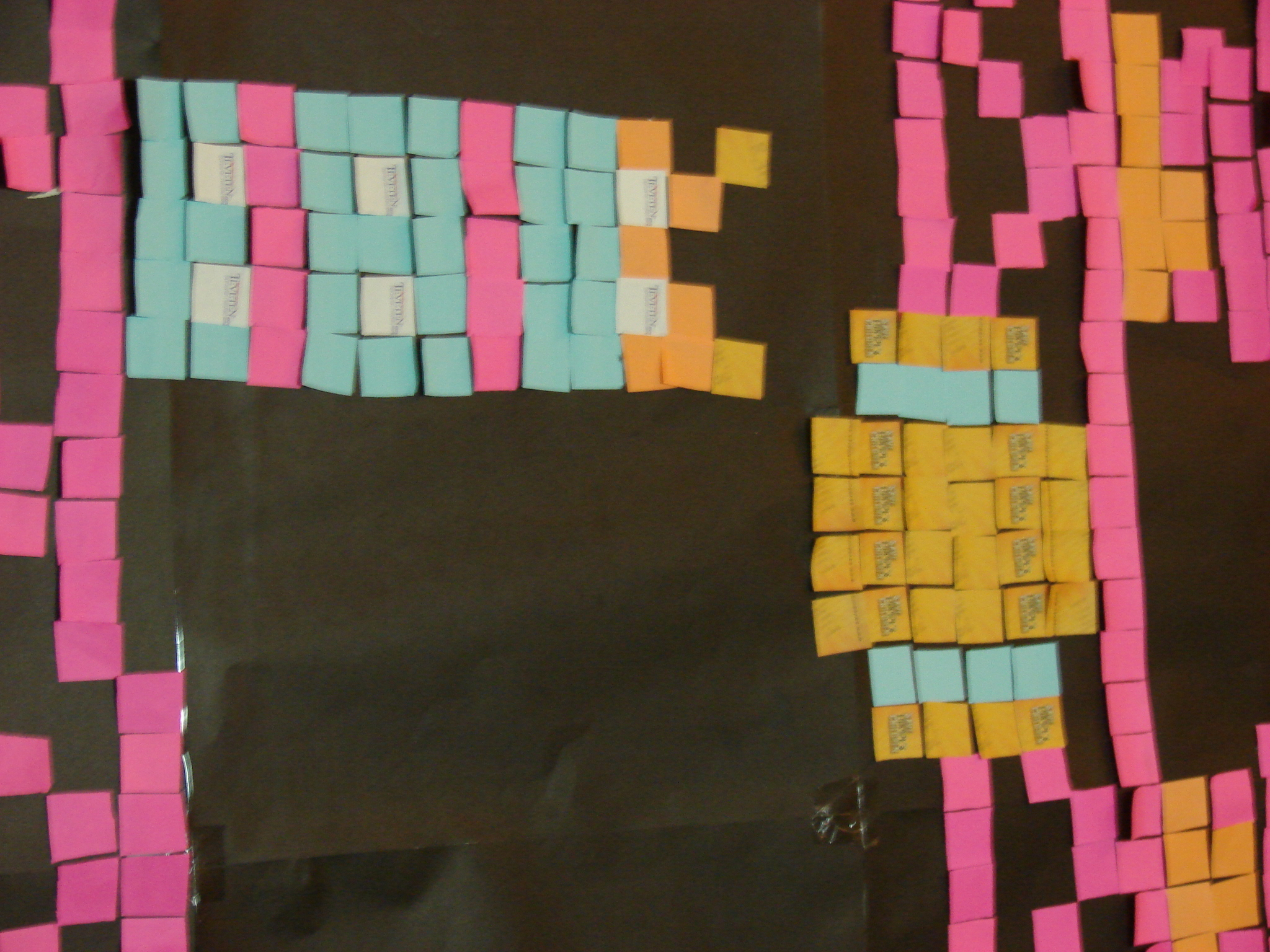 Picture of Donkey Kong Sticky Note Mosaic