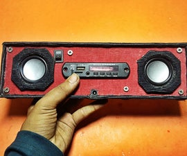 Make a stylish portable speaker(from scratch)