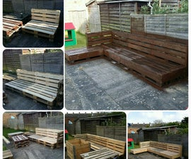 garden pallet corner sofa
