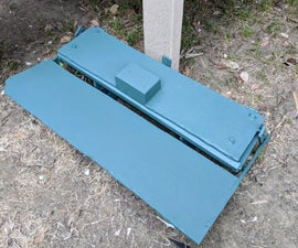 Automatic Chicken Feeder With Upcycled Gutter & Plywood