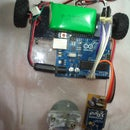 Wireless Robo-car  using  360°  servo motor