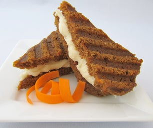 Grilled Carrot Cake Sandwich