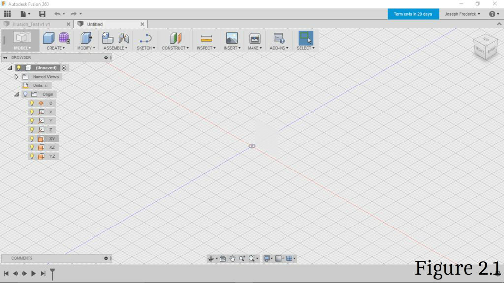 Picture of Open Fusion 360 and Sketch the Solid Font Base