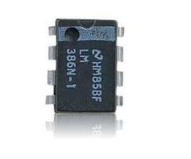 lm386 mini amplifier with bread board pcb