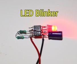 How to Make LED Blinker Using LM555 IC