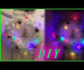 DIY Christmas Wreath Using Plastic Bags