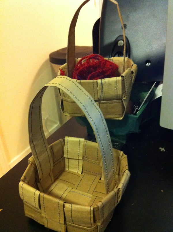 Make Cute Baskets Out of Packing Paper