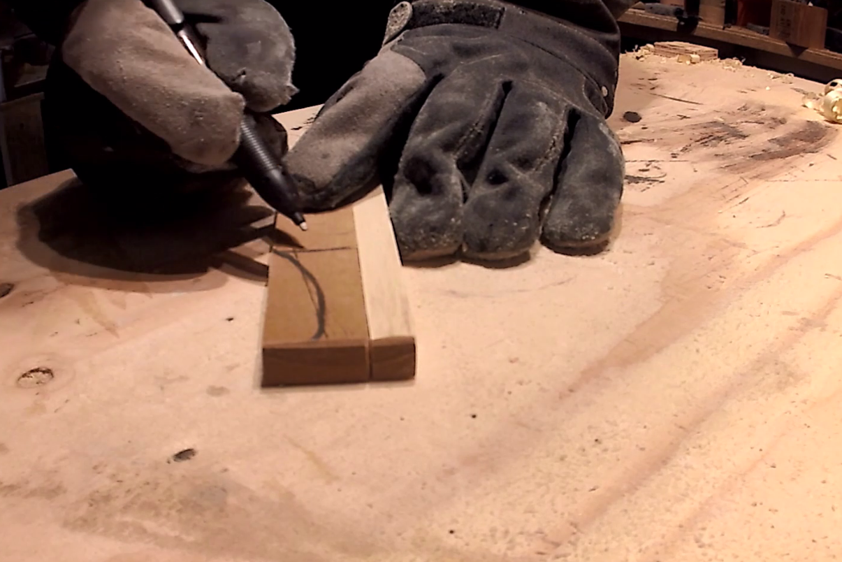 Picture of Preparing the Wedge/key
