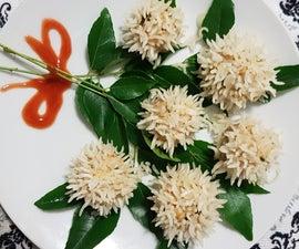 Chicken Flower Dumplings