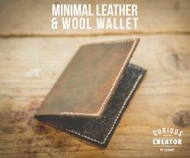 Minimal Leather & Wool Wallet