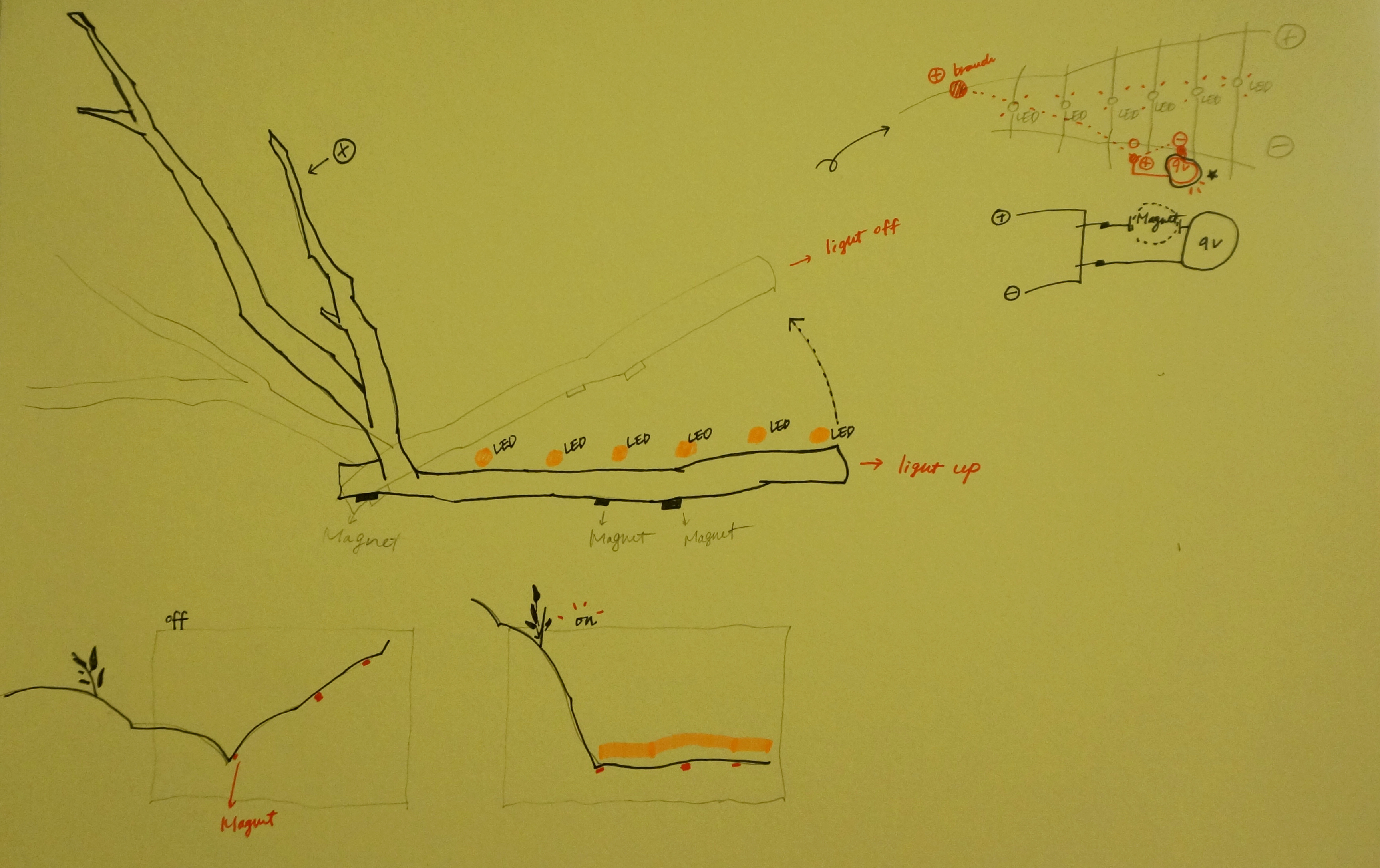 Picture of Sketch Circuits on Paper for Prototype.