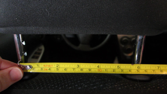 Measure the Space of the Headrest Supports