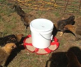 $6 Gravity Powered Auto Chicken Feeder