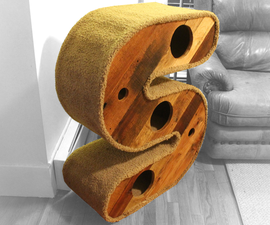 """Reclaimed & Recycled """"S"""" Shaped Cat House/Tunnel"""
