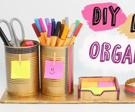 Easy Desk Organizer DIY
