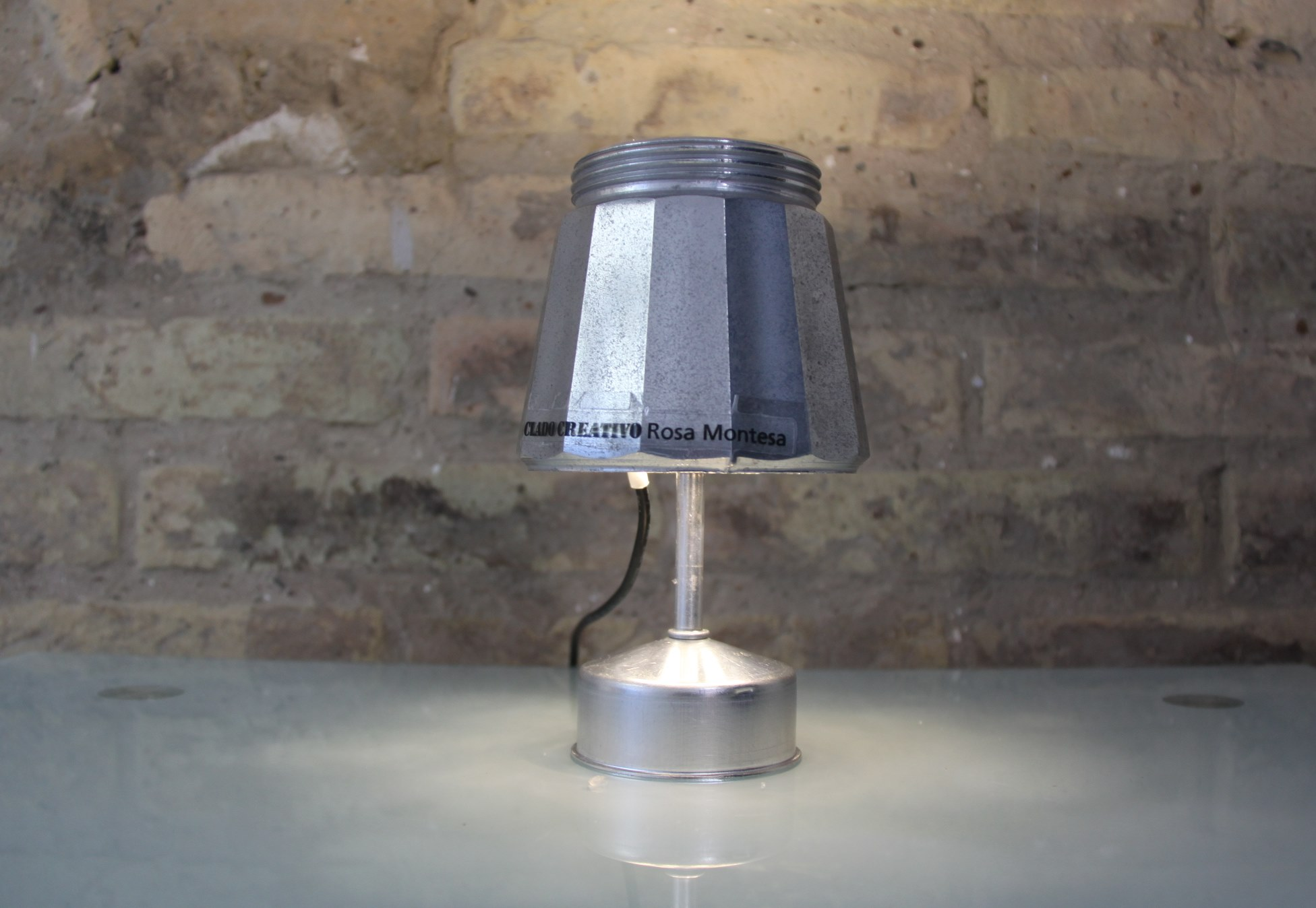 Picture of Lamp Made Out of an Italian Coffee Maker