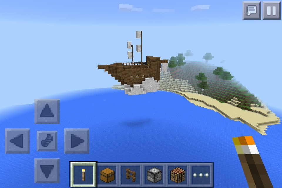 Picture of Mine Craft Floating Ship