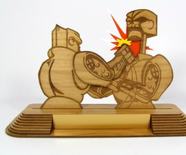Creating a Multi-Layered Trophy with a Laser