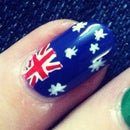 Australian Flag Nail Art Tutorial