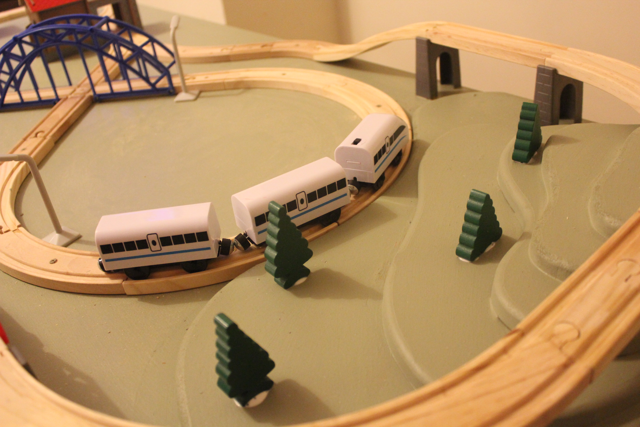 Picture of Wooden Train Set and Landscape