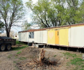 Turning a Trashed Mobile Home Into a Shop
