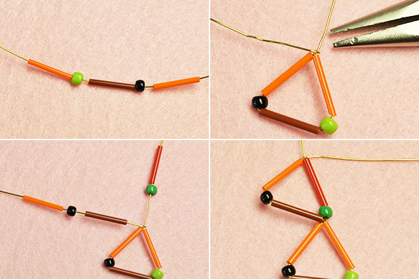Picture of Make the First Part of the Bugle and Seed Beads Earrings